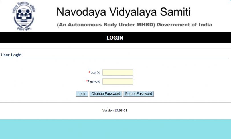 Navodaya Vidhyalaya Samiti Admit Card 2017