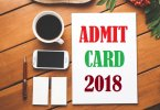RAILWAY ADMIT CARD
