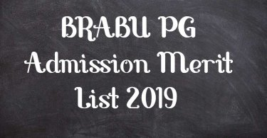 BRABU PG Admission Merit List 2019