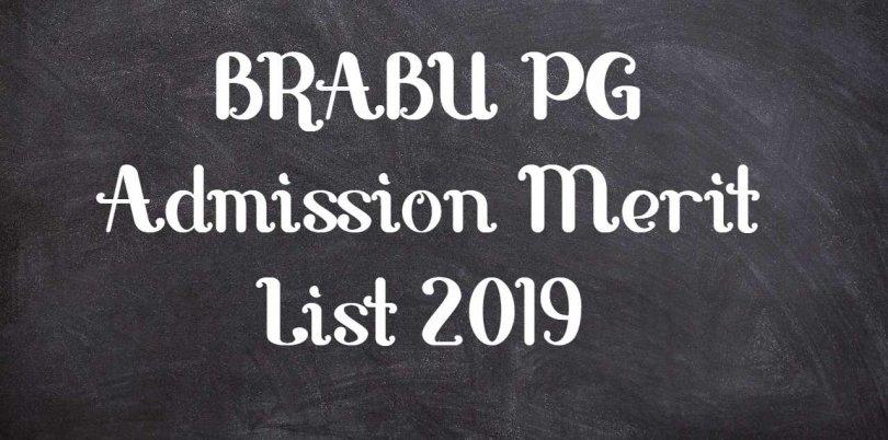 BRABU PG Admission Merit List 2019