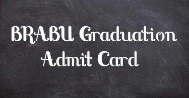 BRABU Graduation Admit Card
