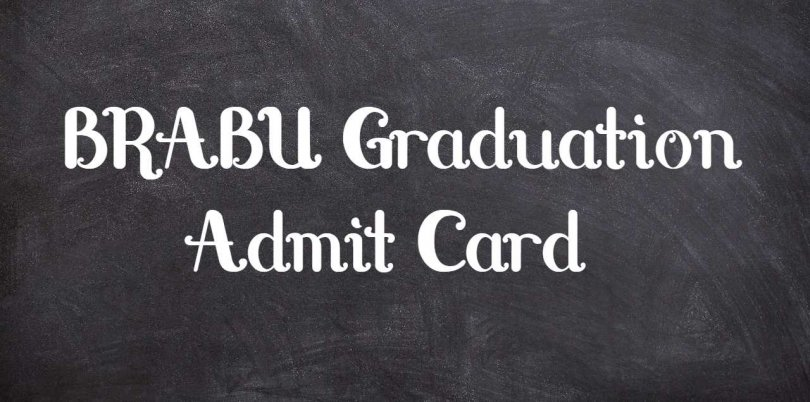 BRABU Graduation Admit Card
