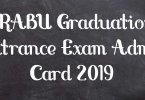 BRABU Graduation Entrance Exam Admit Card 2019