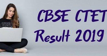 CBSE CTET Result 2019