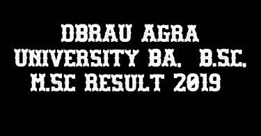 DBRAU Agra University BA, B.Sc, M.Sc Result 2019