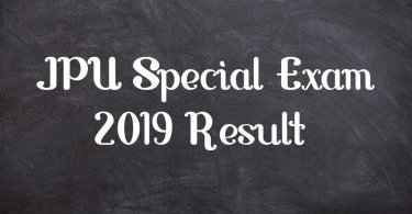 JPU Special Exam 2019 Result