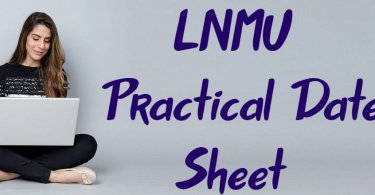 LNMU Part 1 Practical Exam Date Sheet 2019