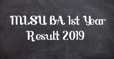 MLSU BA 1st Year Result 2019
