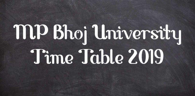 MP Bhoj University Time Table 2019