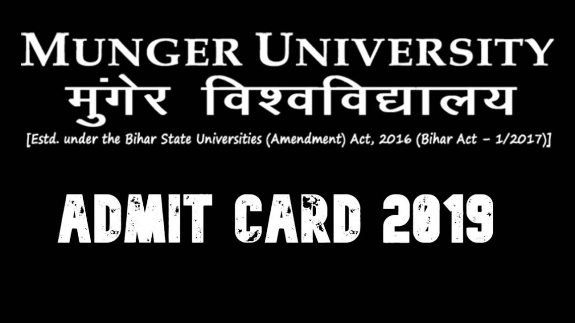 Munger University Admit Card 2019