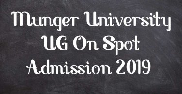 Munger University UG On Spot Admission 2019