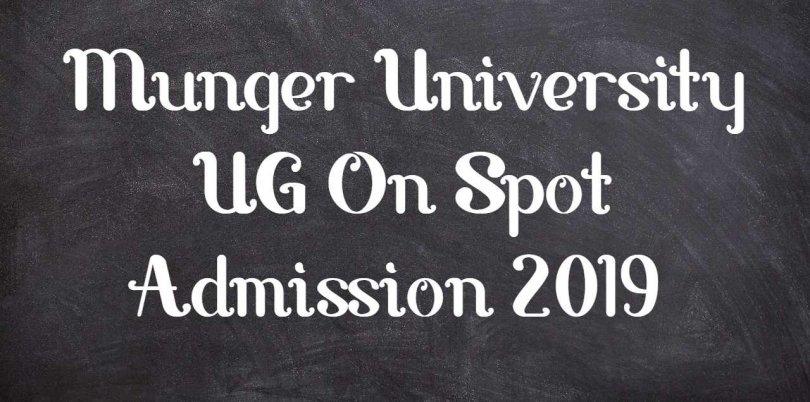 Munger University UG On Spot Admission 2019