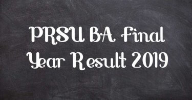 PRSU BA Final Year Result 2019