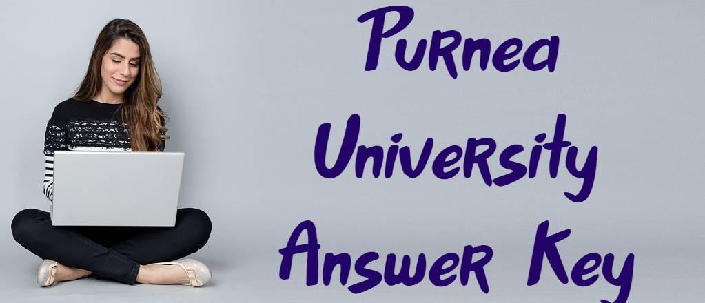 Purnea University Answer Key