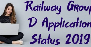 Railway Group D Application Status 2019