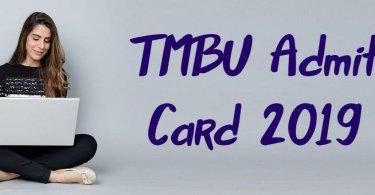 TMBU Admit Card 2019