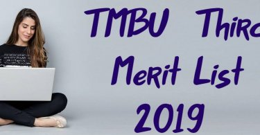 TMBU UG Admission Third Merit List 2019
