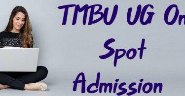 TMBU UG On Spot Admission