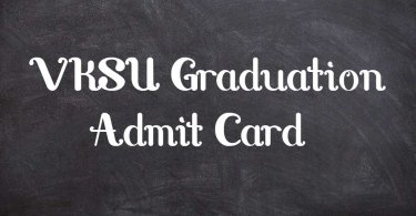 VKSU Graduation Admit Card