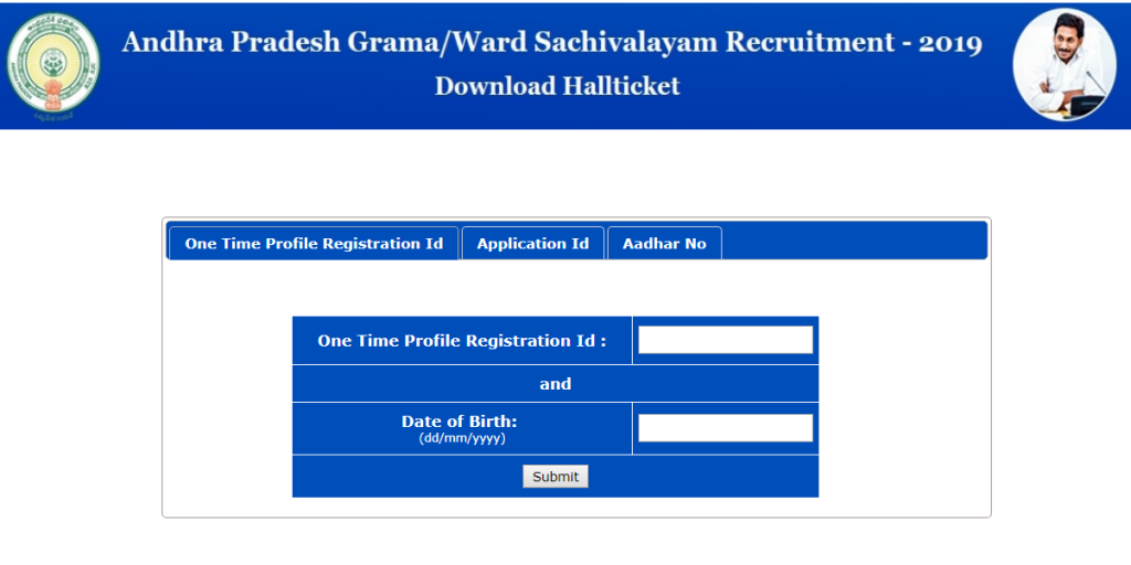AP Gram Sachivalayam Admit Card 2019