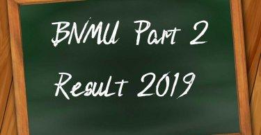 BNMU Part 2 Result