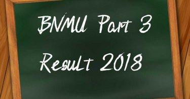 BNMU Part 3 Result 2018