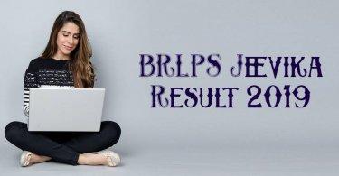 BRLPS Jeevika Result 2019