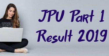 JPU Part 1 Result 2019