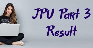 JPU Part 3 Result 2019