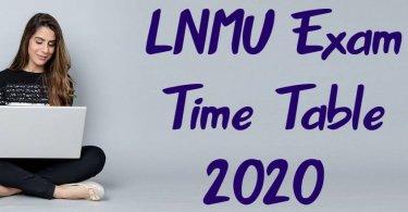 LNMU Exam Time Table 2020