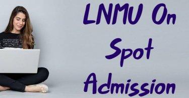 LNMU On Spot Admission 2019