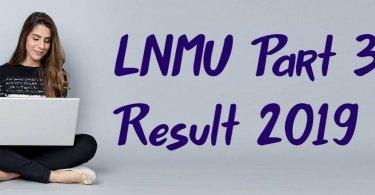 LNMU Part 3 Result 2019