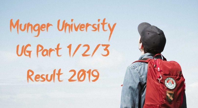 Munger University UG Part 1/2/3 Result 2019
