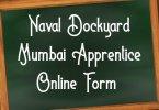 Naval Dockyard Mumbai Apprentice Online Form