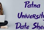 Patna University Date Sheet 2020