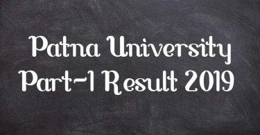 Patna University Part-1 Result 2019