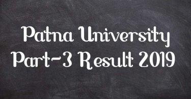 Patna University Part-3 Result 2019