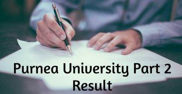 Purnea University Part 2 Result 2019