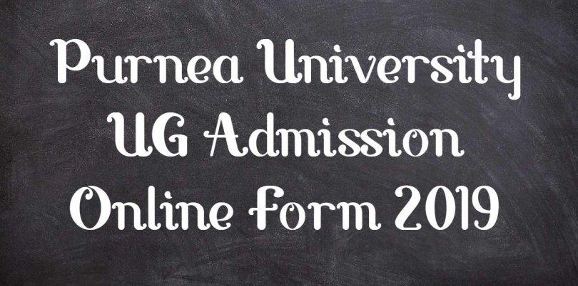 Purnea University UG Admission Online Form 2019