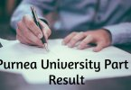 Purnea University UG Part 1 Result 2019