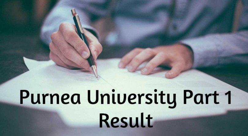 Purnea University UG Part 1 Result 2019
