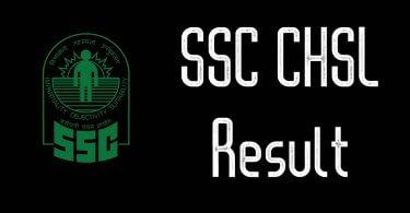 SSC CHSL Result Date 2019