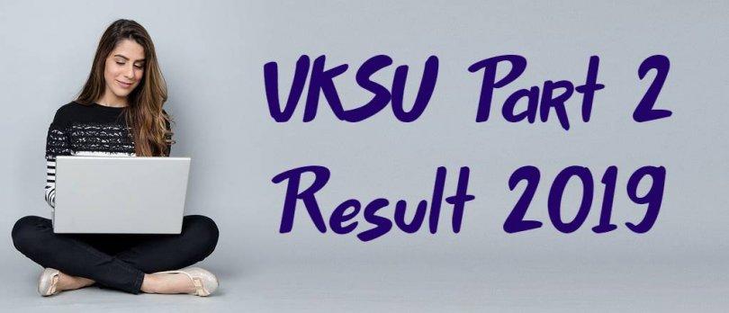 VKSU 2nd Year Result