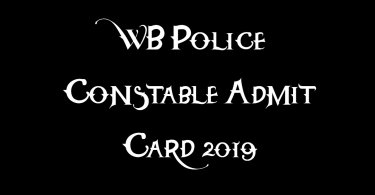 WB Police Constable Admit Card 2019