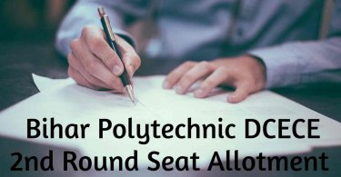 Bihar Polytechnic DCECE 2nd Round Seat Allotment
