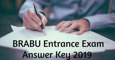 BRABU Entrance Exam Answer Key 2019