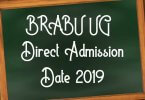 BRABU UG TDC Direct Admission Date 2019