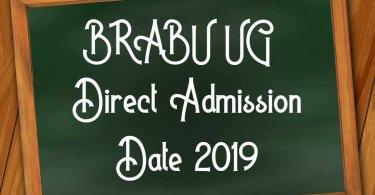 BRABU UG TDC Direct Admission Date 2019
