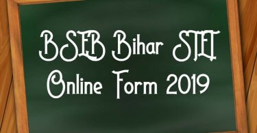 BSEB Bihar STET Online Form 2019