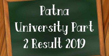 Patna University Part 2 Result 2019